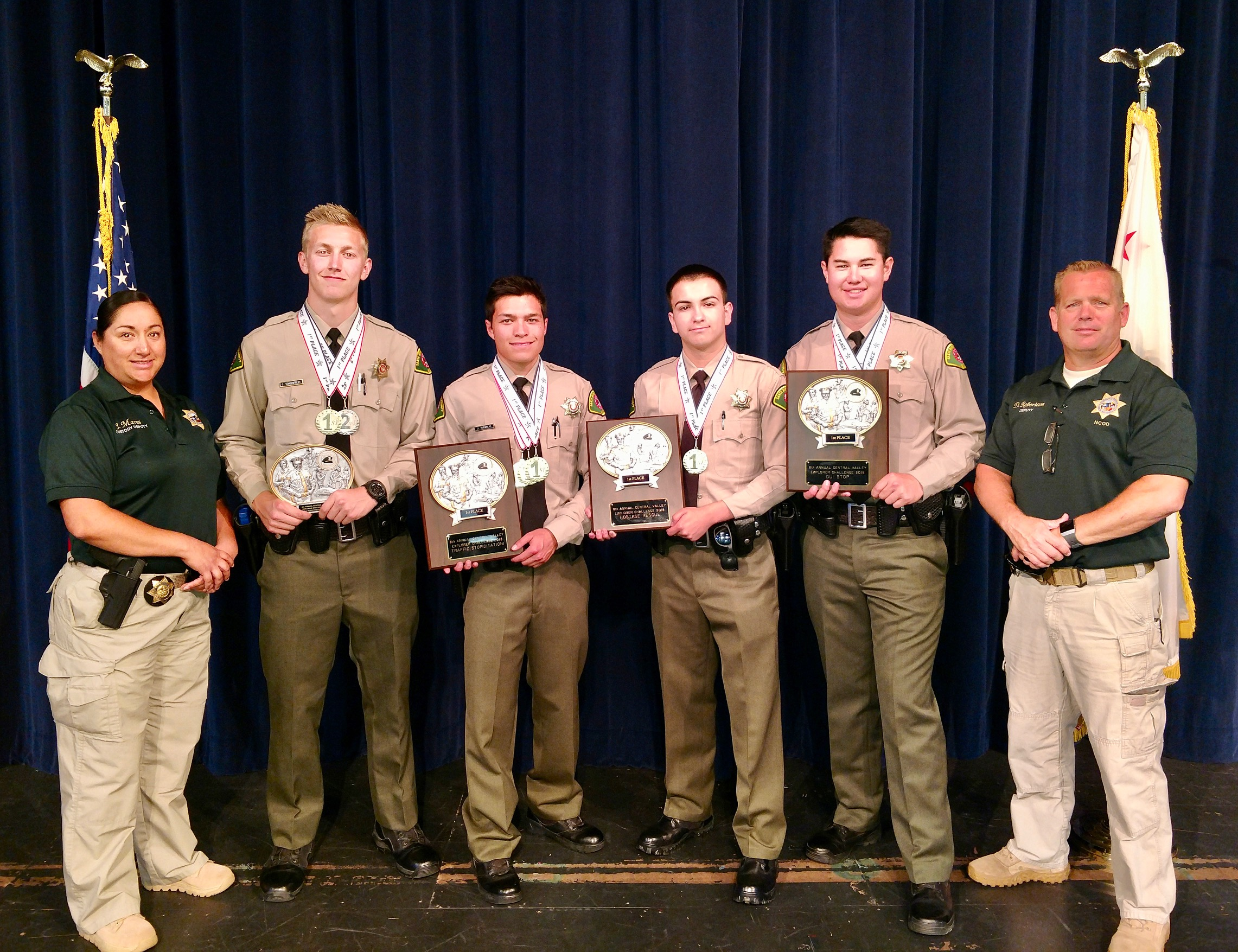 Explorer Post #32 Receives Awards at Central Valley Law