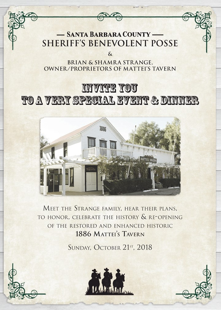 Sheriff's Benevolent Posse Invites You to Special Event on Oct  21